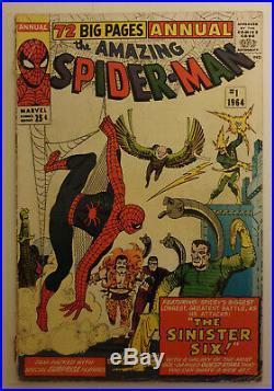 AMAZING SPIDER-MAN Vol. 1 ANNUAL #1 1st Sinister Six 1964 Marvel Comics