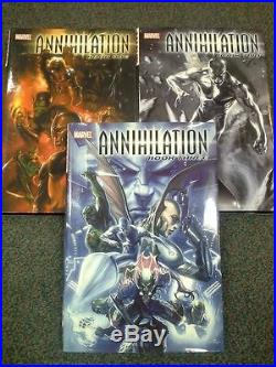 ANNIHILATION Cosmic Guardians of the Galaxy Thanos Marvel HCs Vol 1, 2 & 3 OOP