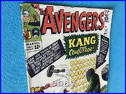 AVENGERS Vol 1 #8 (9/64) 1st KANG the Conqueror 3.5/4.0 C/OW Unrestored MARVEL