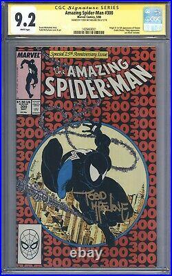 Amazing Spider-Man #300 Vol 1 CGC 9.2 Signature Series Todd McFarlane 1st Venom