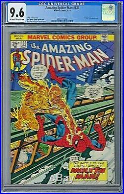 Amazing Spider-Man Vol # 1 Issue # 133 CGC 9.6 Marvel 1974