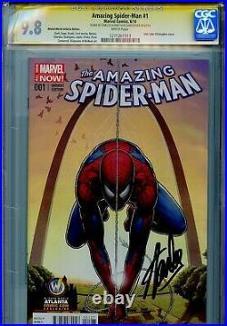 Amazing Spider-Man Vol 3 1 CGC 9.8 SS X2 WW Atlanta cover Stan Lee Peter Parker