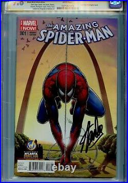 Amazing Spider-Man Vol 3 1 CGC 9.8 SS X2 WW Atlanta cover Stan Lee Peter Parker