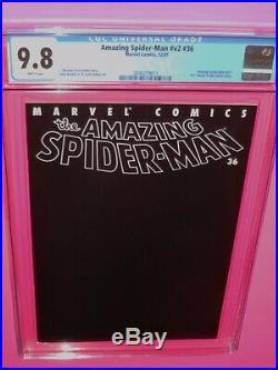 Amazing Spider-man #36 Vol. #2 Marvel 12/01 Cgc 9.8 Wht Pgs Historic 911 Story