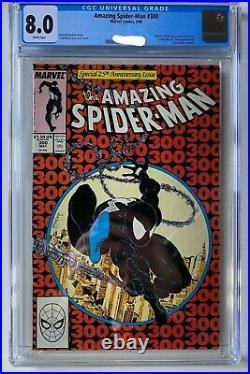 Amazing Spiderman Vol 1 #300. CGC Slabbed Grad 8. Iconic 25th Anniversary Cover