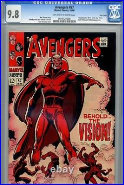 Avengers Vol 1 57 CGC 9.8 1st Silver Age Vision Ultron Twin Cities Pedigree OWithW