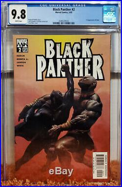 Black Panther #2 (2005 Marvel) CGC 9.8 NM/MT Vol 3 1st App of Shuri! White Pages