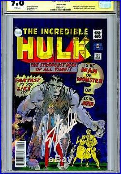 Captain Marvel Vol 7 125 CGC 9.8 SS Lenticular cover Hulk 1 homage Alpha Flight