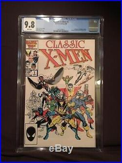 Classic X-Men #1 CGC 9.8 vol 1 1986 Marvel NM/MT Art Adams iconic cover