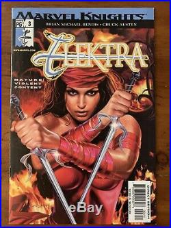 Elektra #3 (vol. 3) 1st Print UNCENSORED NUDE BENDIS Marvel VF/NM KEY RECALLED
