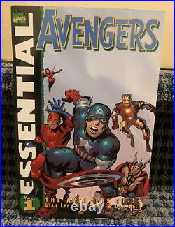 Essential AVENGERS Books (Lot of 9) Marvel Vol. 1 to 9 Trade Paperback B15