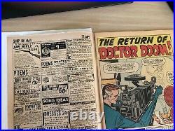 Fantastic Four (Vol 1) #10. VF Doctor Doom 1st Stan and Jack. Jan 1963