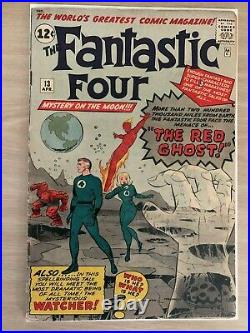 Fantastic Four (Vol 1) #13. VF- 1st appearance The Watcher. Apr 1963