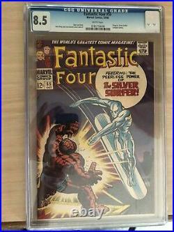 Fantastic Four (Vol 1) #55. CGC 8.5 Silver Surfer cover. Oct 1966