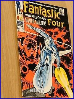 Fantastic Four Vol 1 #72 Ultra Rare Key Issue 1968 Silver Age Marvel Comic Fine+