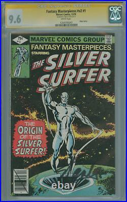Fantasy Masterpieces Vol. 2 #1 CGC 9.6 SS Stan Lee, Reprints Silver Surfer #1