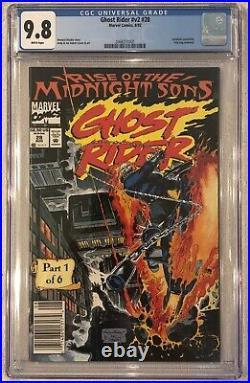 Ghost Rider #28 (vol2) CGC 9.8 NEWSSTAND- 1st App Of Lilith / Midnight Sons