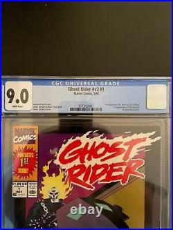 Ghost Rider vol. 3 #1 CGC 9.0 Error 2nd Print Label 1st Deathwatch Marvel GR1-27