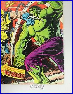 Incredible Hulk #181 1974 Vol 1 Nice Mid Grade 1st App Wolverine with Marvel Stamp