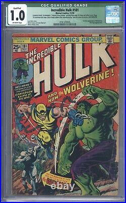 Incredible Hulk #181 Vol 1 CGC 1.0 Qualified 1st Appearance of Wolverine