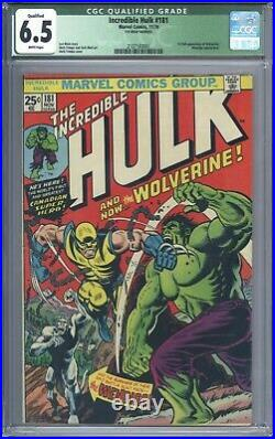 Incredible Hulk #181 Vol 1 CGC 6.5 1st App of Wolverine Complete with Marvel Stamp