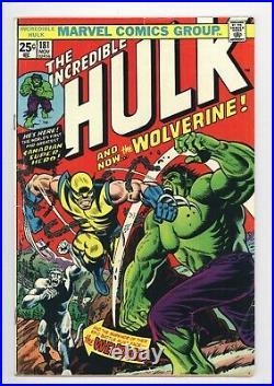 Incredible Hulk #181 Vol 1 Very Nice Upper Mid Grade 1st App of Wolverine withMVS