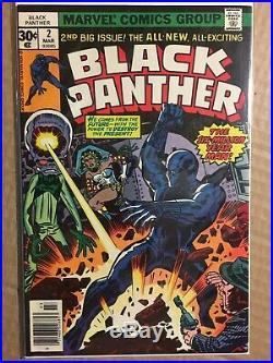 Lot of 12 Black Panther #2-12 NM Marvel Comics 1977 Jack Kirby Bronze Age vol 1