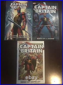 Marvel Captain Britain Omnibus Variant Lot Hardcover Vol 1 2 Excalibur X Men