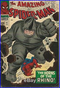 Marvel Comics Amazing Spider-Man Vol 1(1963 Series) # 41 VG/FN 5.0 1st Rhino