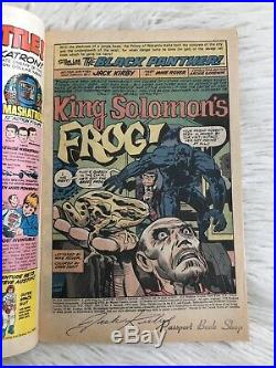 Marvel Comics Black Panther Vol. 1 #1 Signed Splash Page By Jack Kirby