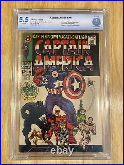 Marvel Comics Captain America #100 Vol 1 CBCS 5.5 with Black Panther! Silver Age