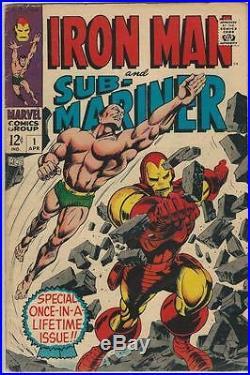 Marvel Comics Iron Man & Sub-Mariner Vol 1 (1968 Series) # 1 VG 4.0