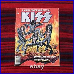 Marvel Comics KISS Super Special Vol 1 1977 First Edition Real KISS Blood
