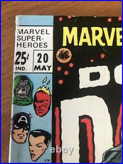 Marvel Super Heroes #20 Vol 1 Doctor Doom & 1st Valeria Very Nice Cover