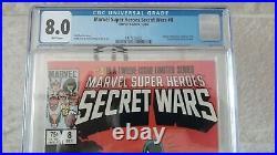 Marvel Super Heroes Secret Wars Vol 1 Issue 8 (CGC Grade 8.0) by Comic Blink