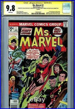Ms. Marvel Vol 1 1 CGC 9.8 SS X4 Stan Lee Romita Sinnott 1st Carol Danvers WP