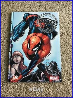 Original Art SKETCH -BLACK WIDOW By Humberto Ramos On Presents My Marvels Vol 2