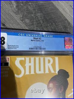 SHURI Vol. 1 #2(1/19)BLACK PANTHER/DORA MILAJE/OKOYE(LOW PRINT)CGC 9.8