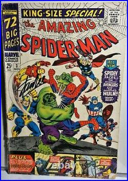 STAN LEE SIGNED MARVEL Vol 1 No 3, Nov 3, -1966- Spidey vs The Avengers & Hulk
