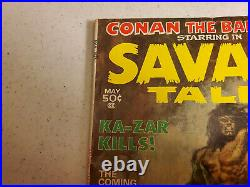 Savage Tales Volume 1 #1 Marvel Magazine Conan Man-Thing See Pictures 6.5 approx