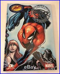 Sdcc Humberto Ramos My Marvels Vol 1 Sketchbook Stan Lee Sketch Signed Ramos