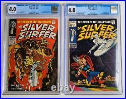 Silver Surfer #3 & #4 CGC 4.0! 1st Mephisto + Classic Thor 1968 Vol 1