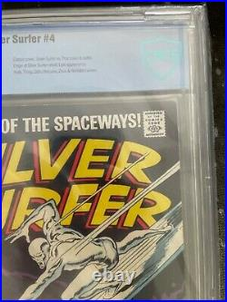 Silver surfer 4 CBCS 5.5 (not cgc 5.5) silver surfer vol 1 issue 4