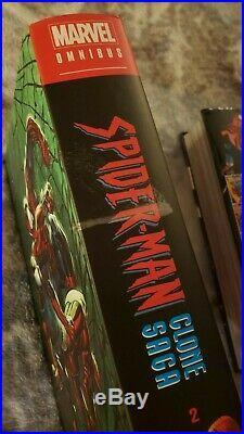 Spider-Man Clone Saga Vol 1 + 2 & Ben Reilly Vol 1 Omnibus Marvel HC. OOP. RARE