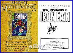 Stan LeeGene ColanSIGNEDInvincible Iron ManMARVEL MASTERWORKS Vol 77+Photos
