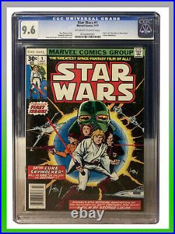 Star Wars #1 1977 Vol 1 Cgc 9.6 Graded Comic 1st Print Rare Worldwide Shipping