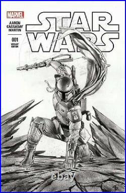 Star Wars 1 Vol 2 Forbidden Planet Adi Granov Boba Fett B&w Sketch Variant Nm