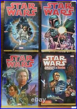 Star Wars Marvel Years Vol 1 2 3 Omnibus Hardcover + Droids & Ewoks HC