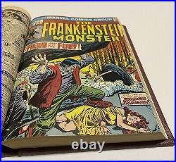 THE MONSTER OF FRANKENSTEIN #1-18 Bound Volume ALL SIGNED BY PLOOG one-of-a-kind