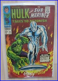 Tales To Astonish (vol 1) #93 Silver Surfer Vs Hulk July 1967 Vg